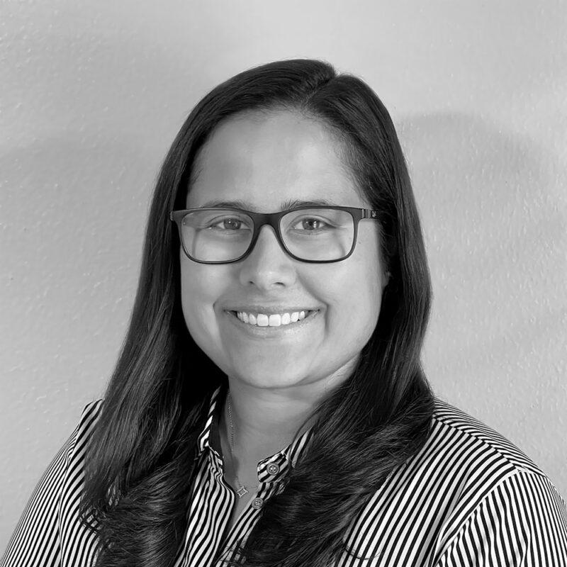 Krystal Sepulveda headshot in black and white